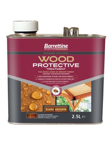 Barrettine wood protector dark brown 2.5L